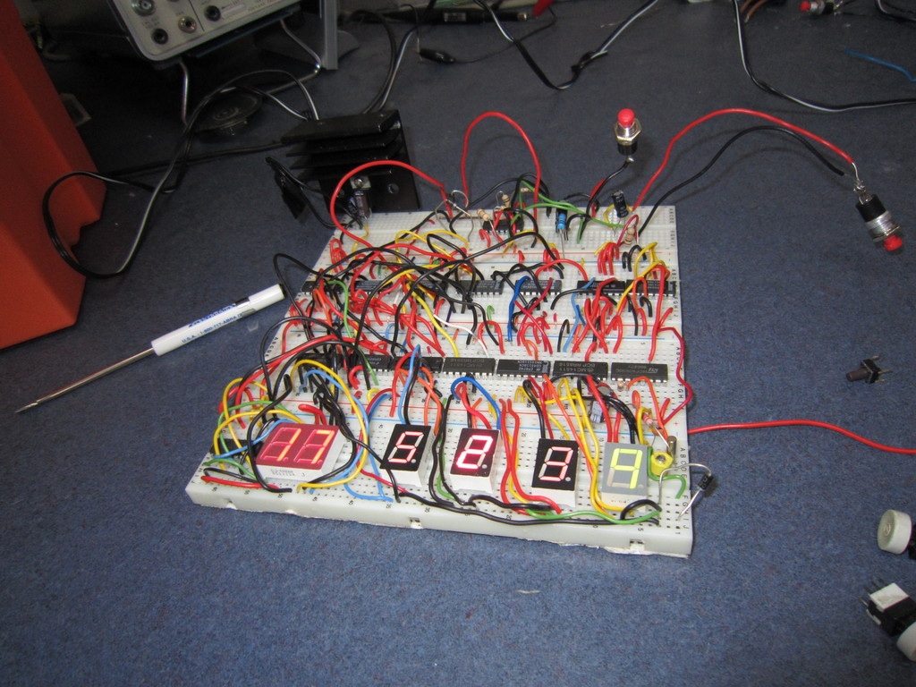 4000 Series Cmos 24 Hour Clock Eastons Stuff How To Make Interesting Ic 4060 Circuits A Couple Months Learning And Work We Finally Have It Working Used 7805 Voltage Regulator For The Entire Circuit Since I Didnt Want Add